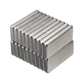 20pcs N35 Grade Strong Block Magnets 15mm x 65mm x 2mm Rare Earth Neodymium