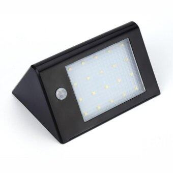โคมไฟ โซล่าเซลล์ พลังงานแสงอาทิตย์ ติดผนัง 20 LED มีเซนเซอร์ รุ่น Montion Sensor