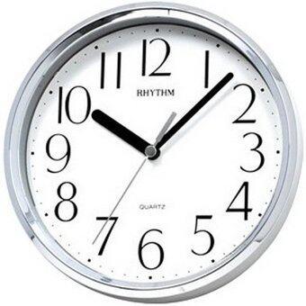 RHYTHM นาฬิกาแขวนผนัง พร้อมขาตั้งโต๊ะ รุ่น CMG890ER19 สีเงิน