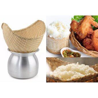 Dtaa-Yaai หวดนึ่งข้าวเหนียว สานไม้ไผ่ พร้อมหม้อลาวนึ่งข้าว เบอร์ 26