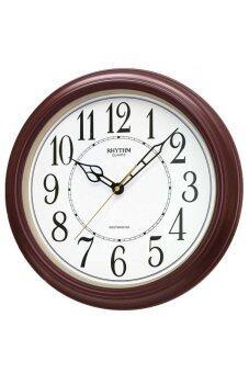 RHYTHM นาฬิกาแขวน รุ่น CMH726NR06 (สีน้ำตาล)