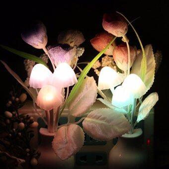 โคมไฟ LED ดอกทิวลิปแสงนุ่มโรแมนติกประหยัดพลังงานไฟฟ้า