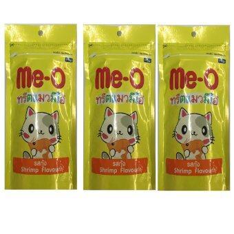 Me-o ขนมแมว รสกุ้ง 50 กรัม จำนวน 3 ซอง