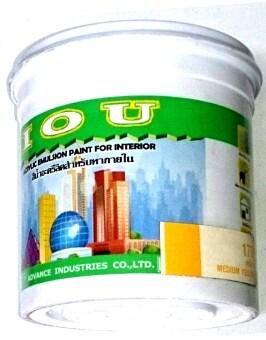 Advance IOU สีน้ำอะครีลิคสำหรับทาภายใน 0.946 ลิตร สีเหลือง No.170 จำนวน 1กระปุก