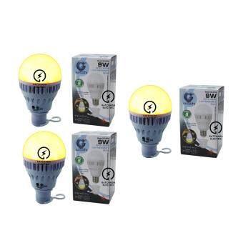 แพค 3 หลอด Iwachi หลอดไฟแอลอีดี อัจฉริยะ มัลติฟังก์ชั่น ปรับแสงได้ 3 แบบ แสงไล่แมลง, แสงเดย์ไลท์, แสงคลูเดย์ไลท์ 9 วัตต์