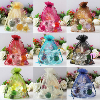 Harga 100 pcs Sheer Organza Wedding Party Favor Decoration Gift Candy Bags 7*9