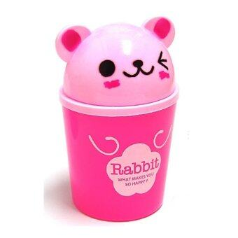 ถังขยะอเนกประสงค์ รูปกระต่าย สีชมพู