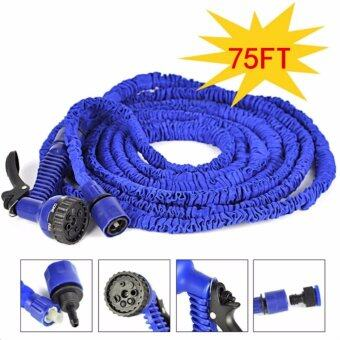 Elastic Hose สายยางยืดหดอัตโนมัติ MAGIC HOSE Automatically EXPANDS and Contracts 75 ฟุต/22.5M (สีน้ำเงิน)