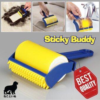 Sticky Buddy ชุดลูกกลิ้งทำความสะอาด กำจัดขนสัตว์ แปรงกำจัดขนแมว/สุนัข