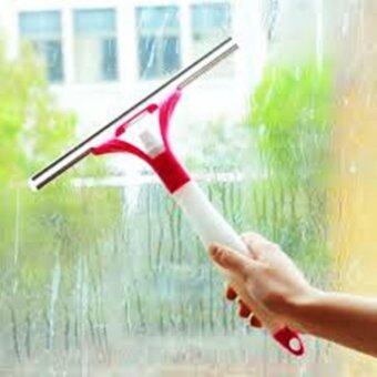 ไม้เช็ดกระจก ที่ปาดน้ำกระจกพร้อมกระบอกฉีดน้ำยาในตัว 2 in1 12 นิ้ว