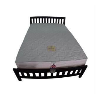 DAXTON เตียงเหล็กกล่องพร้อมที่นอนสปริง รุ่น Baron ขนาด 6 ฟุต (สีดำ)