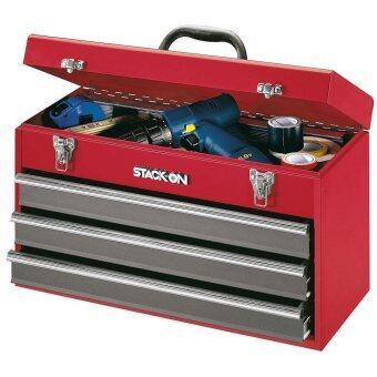 STACK-ON กล่องเครื่องมือช่าง 3 ลิ้นชัก รุ่น RG-920 (สีแดง)