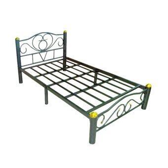 DAXTON เตียงเดี่ยว เหล็ก Epoxy ขาเตียงหนา 3 นิ้ว ขนาด 3.5ฟุต สี Epoxy เกล็ดเงิน รุ่น ICON3 - 3.5 - SILVER