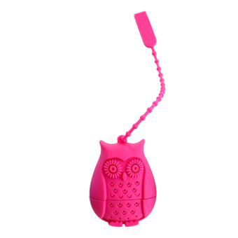 Harga High Quality 2016 Hot Sale High Quality Cute Owl Tea Bags Strainers Food Grade Silicone Filter Infuser Silica Gel Filtration Tea Accessories (rose)