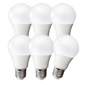 LEDANDLAMP หลอดไฟ LED BULB ขั้ว E27 ขนาด 7w. ( แสงสีขาว Day Light แพ็ค 6 หลอด )