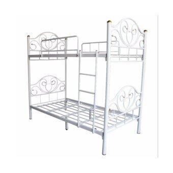 ISO เตียงเหล็ก 2 ชั้น รุ่นหัวใจ ขนาด 3 ฟุต (สีขาว)