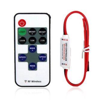 LED รีโมทควบคุม LED 12V สำหรับเปิดปิดปรับระดับแสงไฟ Remote Control Dimmer DC 12V 11keys Mini Wireless RF LED Controller