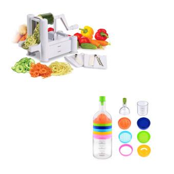 Replica Shop เครื่องสไลด์อเนกประสงค์ 3 in1 Turning Slicer (White) + Replica Shop อุปกรณ์ทำอาหารอเนกประสงค์ 8 in 1
