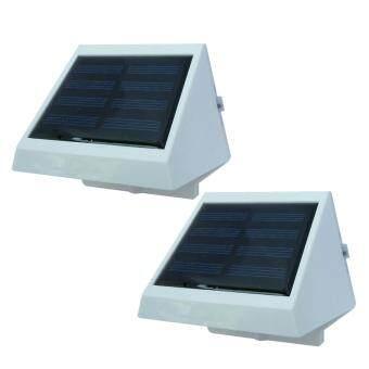 โคมไฟโซล่าเซลล์แบบกลม 2 LED รุ่น Solar LED 2pcs