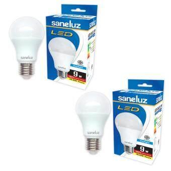 Saneluz หลอดไฟ LED Bulb SZ 9W หลอดปิงปอง (Daylight แสงขาว) 2 หลอด