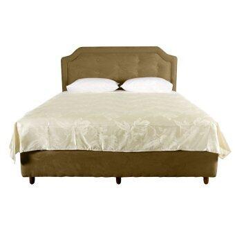 ผ้าห่มแพรทอลายเตียงเดี่ยว เนื้อซาติน ขนาด 6ฟุต รหัส Silk-087