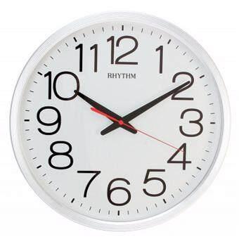 RHYTHM นาฬิกาแขวน รุ่น CMG495NR03 (สีขาว/ขาว)