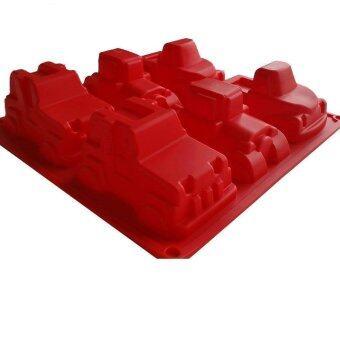 meedee แม่พิมพ์ซิลิโคนลายรถ 6 แบบ (RED)