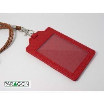 PARAGON ID PASS HOLDER (ป้ายใส่บัตรพนักงานแนวตั้ง สีแดง)