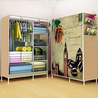 Yifun Multifunction 2 Block wardrobe ตู้เสื้อผ้า 2 บล๊อค-สไตล์อังกฤษ