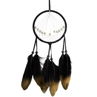 Harga Feather Dream Catcher Feather Bead Hanging Decoration Ornament - intl