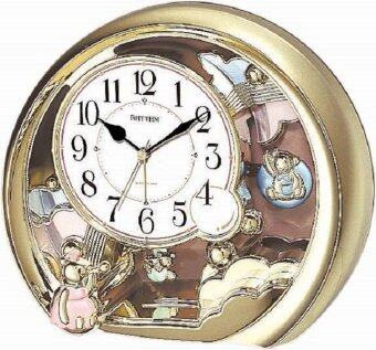 RHYTHM นาฬิกาตั้งโต๊ะ รุ่น 4SE504WR18 - Gold