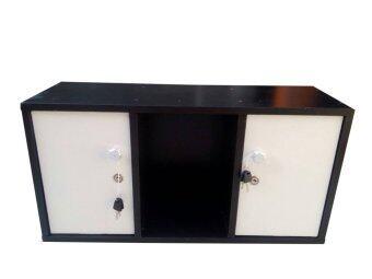 NK Furniline ตู้ล็อคเกอร์ ตู้เก็บของเอนกประสงค์ รุ่น Box60-2DK ( สีโอ๊ค/บานขาว )