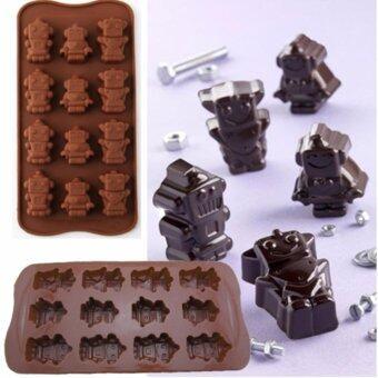 แม่พิมพ์ Silicone รูปทรงหุ่นยนต์คุณหนู สำหรับทำ ช็อคโกแล็ต วุ้น เยลลี่ น้ำแข็ง หรือพิมพ์สบู่ใช้ได้ทั้งร้อนและเย็น