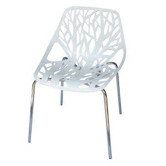 DAISO เก้าอี้ pp ขาชุบ รุ่น CD-280 (สีขาว)