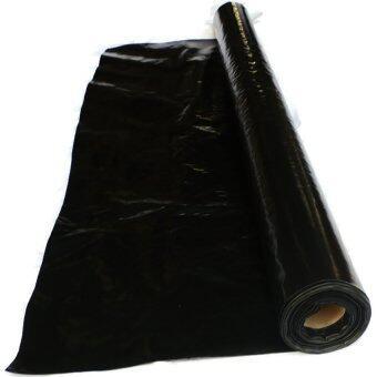 papamami Plastic cover pond แผ่นพลาสติกปูบ่อ ผ้ายางปูบ่อ LDPE (3.6x25เมตร) - สีดำ