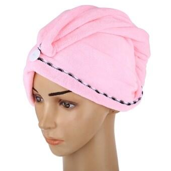 คนผมหนานุ่มเมจิกหมวกไหมพรมหนาแห้งผ้าขนหนูนุ่ม