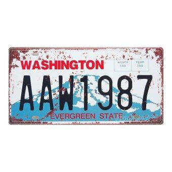 ป้ายทะเบียนตกแต่งบ้าน Washington AAW1987 Evergreen State, ขนาด 30x15 ซม