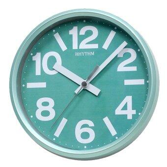 RHYTHM นาฬิกาแขวนผนัง พร้อมขาตั้งโต๊ะ รุ่น CMG890GR05 สีเขียว/ขาว