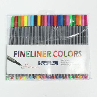 24 fineliners ด้าม 24 สีพาสเทลสดใสราคาคุณภาพชุดปากกาดินสอมาร์คเกอร์ศิลปะภาพเขียนชุด 24 ลูกเล้า