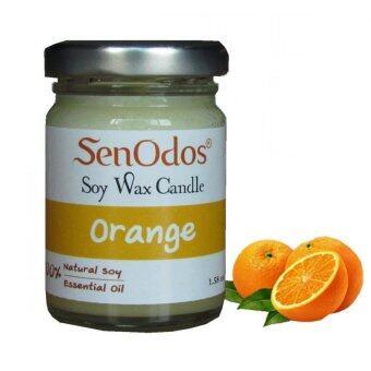 SenOdos เทียนหอม อโรม่า Orange Scented Soy Candle Aroma 45 g.- กลิ่นส้มแท้