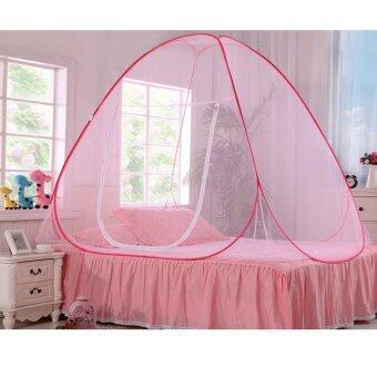 Chang มุ้งสปริง กางเองอัตโนมัติ รุ่นผ้าหนาพิเศษ ขนาด 2 เมตร นอนได้ 4 คน (Pink)