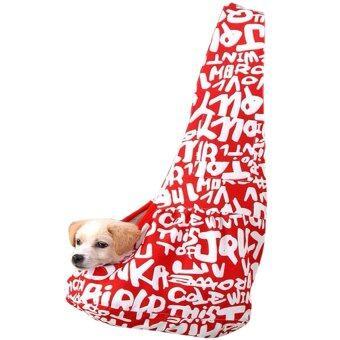 Smile's dog 2015 กระเป๋าสะพายใส่สุนัข รหัส XKB Size L (แดง)