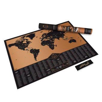 Scratch Map - Adventure Map แผนที่โลก แบบขูดได้ บันทึกการเดินทาง