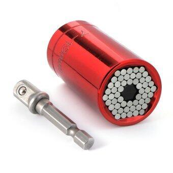 ซอกเก็ตอะเเดปเตอร์ขนาดมาตรฐาน Socket Ratchet Wrench Power Drill Adapter Tools 7-19mm