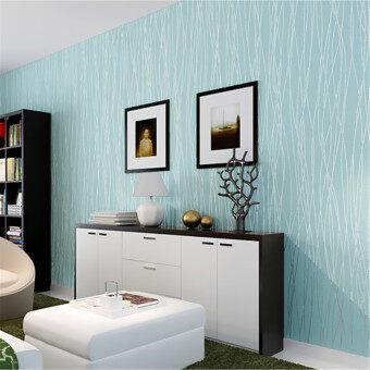 แถบผ้าสีทึบรูปม้วนกระดาษการตกแต่งบ้านนอนวูฟเวน Colth ฟ้าอ่อน - intl