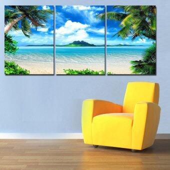 2559 ใหม่ 3 สมัยติดทะเลคลื่นทะเลพาน้ำมันวาดผนังผ้าใบริมชายหาดภาพศิลป์ Cuadros สำหรับห้องนั่งเล่น (ไม่มีกรอบ)