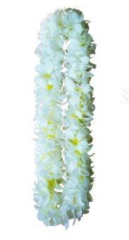 Dokpikul-พวงมาลัย ฮาวาย ดอกลีลาวดี หลากสี ความยาวบนลงล่าง 50ซม. สีขาวกลางเหลือง