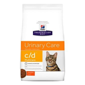 Hill's Prescription Diet c/d Multicare Feline with Chicken Urinary Tract Health Dry อาหารแมวชนิดเม็ด สูตรประกอบการรักษาโรคนิ่ว และเพื่อป้องกันการกลับมาเป็นใหม่ของนิ่วชนิดสตรูไวท์และโรคทางเดินปัสสาวะส่วนล่าง ขนาด1.5กก.