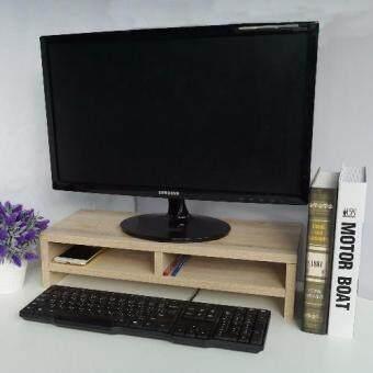 Smartshopping ชั้นวางจอคอมพิวเตอร์ สีไม้