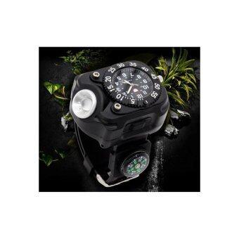 นาฬิกาข้อมือไฟฉาย waist watches lights สีดำ